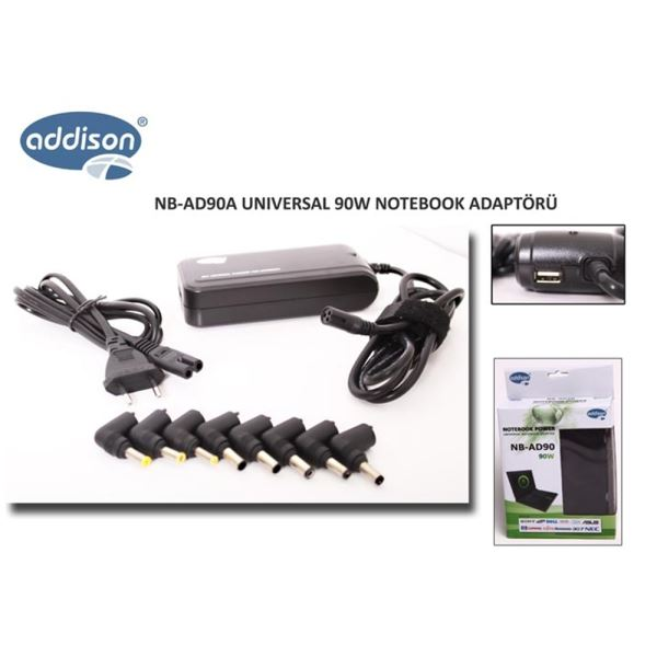 Addison NB-AD90A 90W Usb li Notebook Adaptör