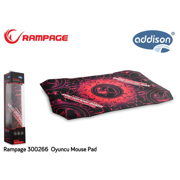300266 ADDISON RAMPAGE OYUNCU MOUSE PAD 520X350X4MM