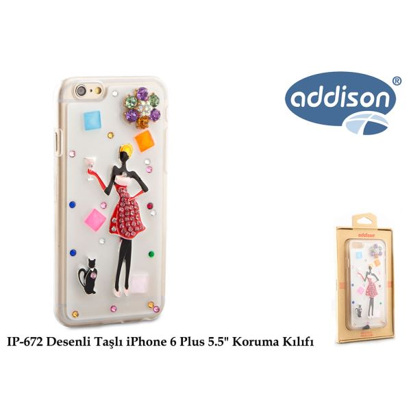 ADDİSON IP-672 DESENLİ TAŞLI İPHONE 6 PLUS 5.5
