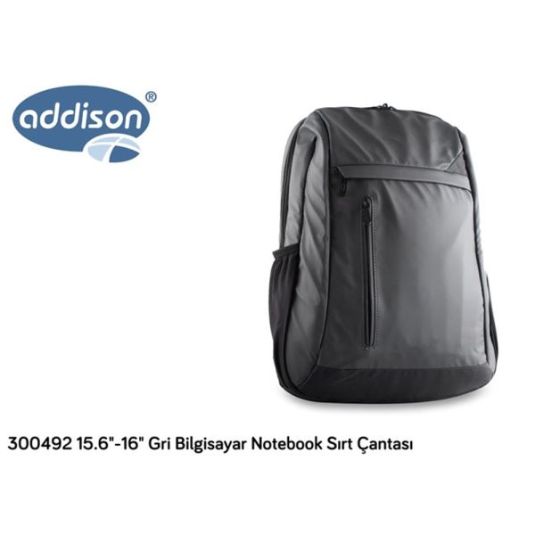 ADDISON 15.6-16'' NOTEBOOK SIRT ÇANTASI- (GRİ)