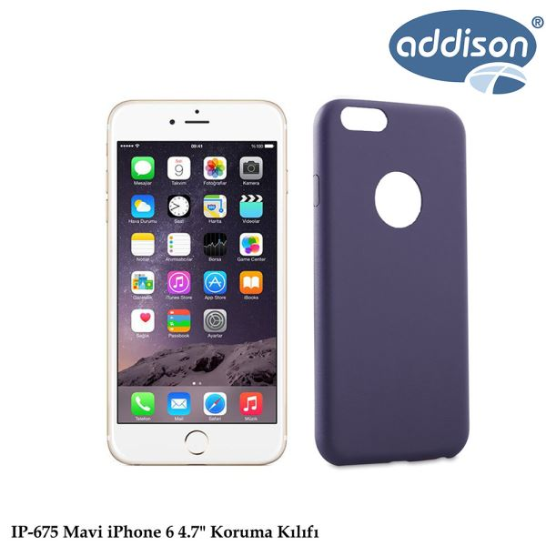 ADDISON IP-675 IPHONE 6 KORUMA KILIFI MAVİ