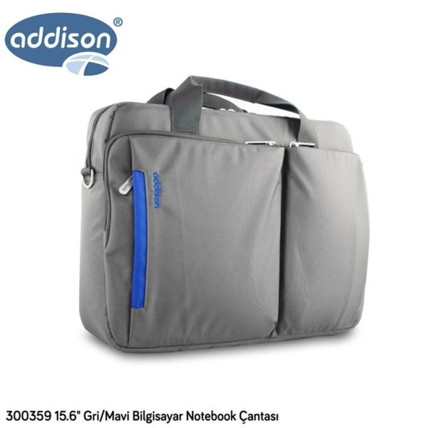 ADDISON 300359 15.6'' NOTEBOOK ÇANTASI- (GRİ/MAVİ)