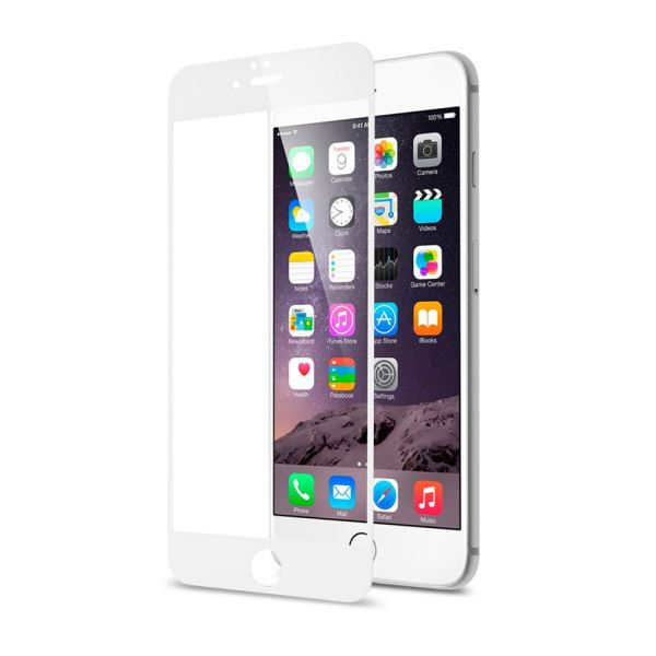 ADDİSON IP-853 TEMPERED GLASS 0.3MM BEYAZ İPHONE 6S FULL COVER CAM EKRAN KORUYUC