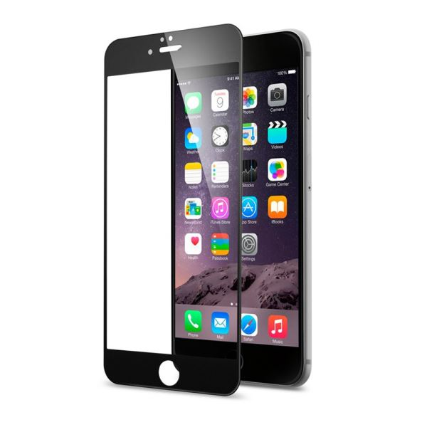 ADDİSON IP-853 TEMPERED GLASS 0.3MM SİYAH İPHONE 6S FULL COVER CAM EKRAN KORUYUC