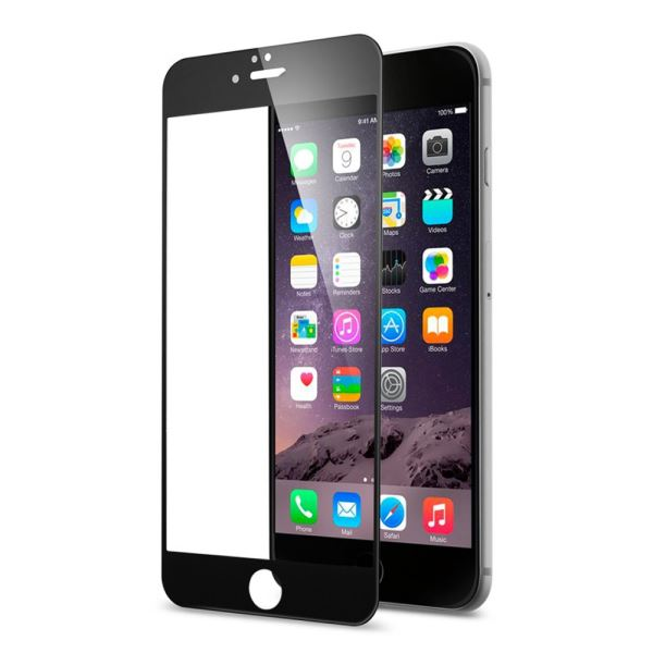 ADDİSON IP-854 TEMPERED GLASS 0.3MM SİYAH İPHONE 6S PLUS FULL COVER CAM EKRAN KO