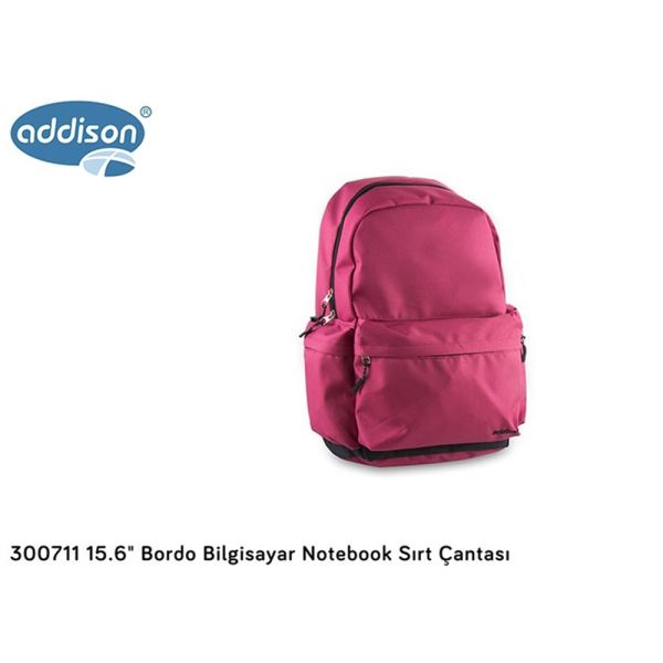 ADDISON 300711 15.6'' NOTEBOOK SIRT ÇANTASI- (BORDO)