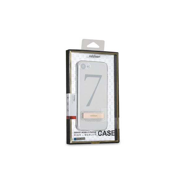 ADDISON IP-714 KRİSTAL SERİ GOLD İPHONE7 ULTRA İNCE KORUMA KILIFI