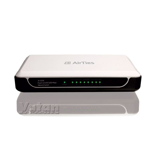 AIRTIES AIR 208 GIGABIT 8 PORT SWITCH