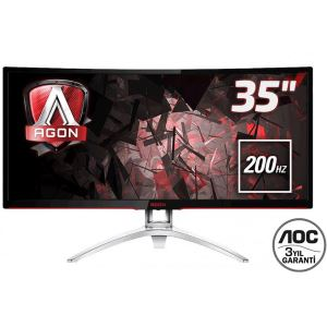 "AOC 35"" AGON AG352QCX 200Hz 4ms UltraWide Curved Free-Sync Gaming Monitör"