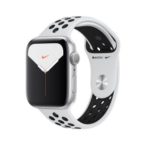 Apple Watch Nike Series 5 GPS, 44mm Silver Aluminium Case with Pure Platinum/Bla