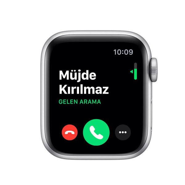 Apple Watch Series 5 GPS, 40mm Silver Aluminium Case with White Sport Band