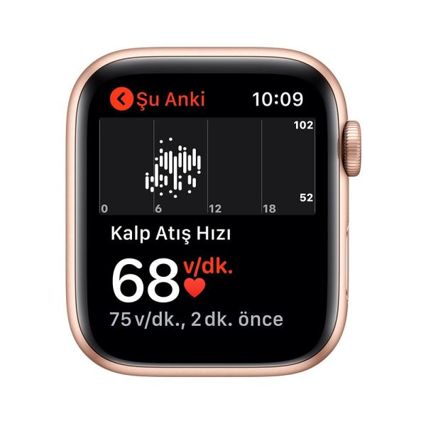 Apple Watch Series 5 GPS, 44mm Gold Aluminium Case with Pink Sand Sport Band - S