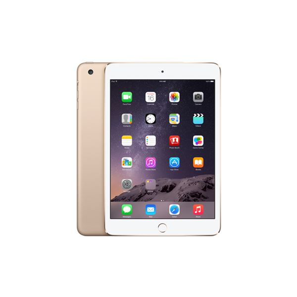 Ipad Mini3 128GB WIFI+4G-Gold-7.9Retina-Bluetooth-10Saate KadarPil Ömrü341Gr