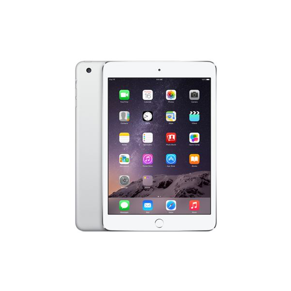 Ipad Mini3 128GB WIFI Silver-7.9''Retina-Bluetooth-10 SaateKadarPilÖmrü-331Gr