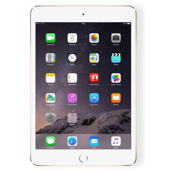 Ipad Mini4-128GB WIFI+4G Gold-7.9''Retina-Bluetooth-10 SaateKadar PilÖmrü-299Gr