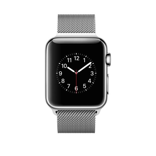 Apple Watch 38 mm Paslanmaz Çelik Kasa ve Milano Loop