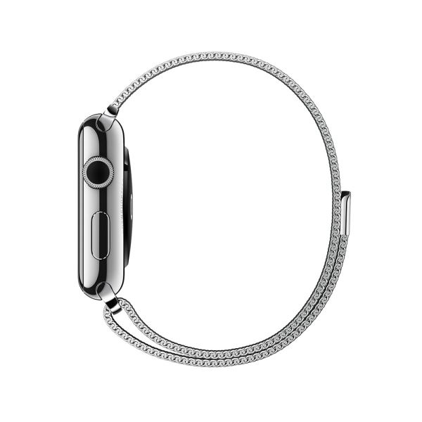 Apple Watch 42 mm Paslanmaz Çelik Kasa ve Milano Loop