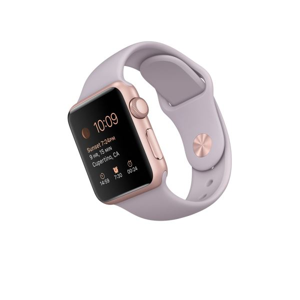 Apple Watch 38mm Rose Gold Aluminium Case with Lavender Sport Band Demo