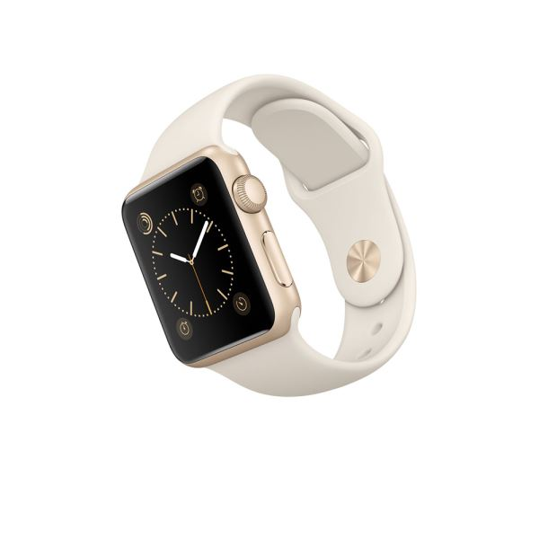 Apple Watch 38mm Gold Aluminium Case with Antique White Sport Band Demo