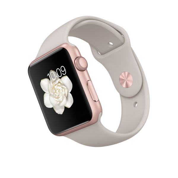 Apple Watch 42mm Rose Gold Aluminium Case with Stone Sport Band Demo