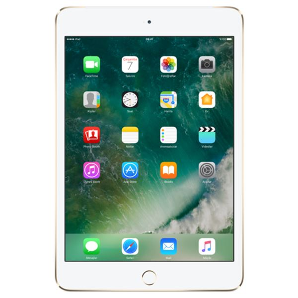 Ipad Mini4-32GB WIFI Gold-7.9''Retina-Bluetooth-10 SaateKadar PilÖmrü-299Gr