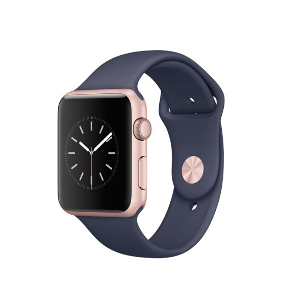 APPLE Watch S1 42mm Rose Gold Alüminyum Kasa ve Gece Mavisi Spor Kordon