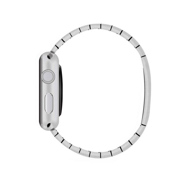 APPLE Watch 42 mm Paslanmaz Çelik Kasa ve Baklalı Model Bilezik