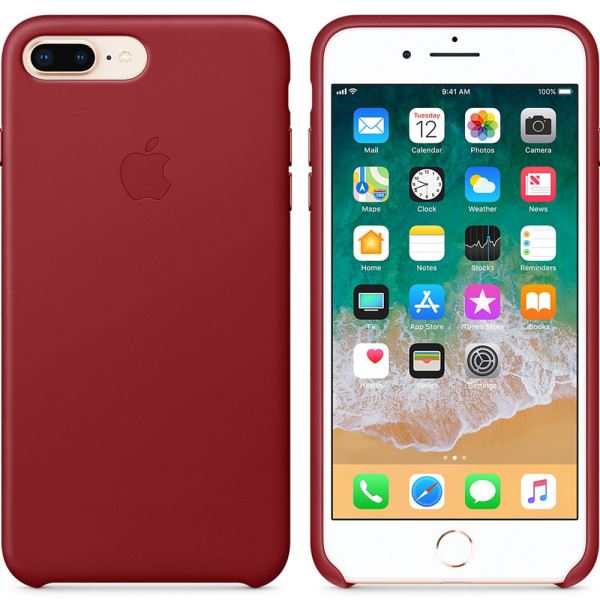 APPLE MQHN2ZM/A IPHONE 8 PLUS /7 PLUS DERİ KILIF- (KIRMIZI)