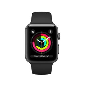 Apple Watch Series 3 GPS, 42mm Space Grey Aluminium Case with Black Sport Band