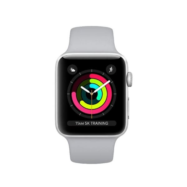 Apple Watch Series 3 GPS, 38mm Silver Aluminium Case with White Sport Band