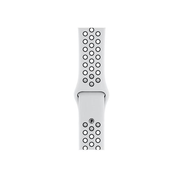 AppleWatch Nike+ Series4 GPS,44mm Silver Aluminium Case with Pure Platinum/Blk
