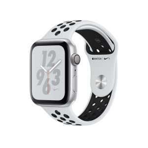Apple Watch Nike+ Series 4 GPS,44mm Silver Aluminium Case with Pure Platinum/Blk