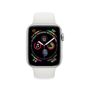 AppleWatch Series4 GPS,40mm Silver Aluminium Case with White Sport Band