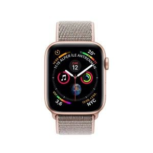 Image of AppleWatch Series4 GPS, 40mm Gold Aluminium Case with Pink Sand Sport Loop