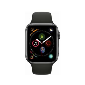 Image of Apple Watch Series 4 GPS, 44mm Space Grey Aluminium Case with Black Sport Band