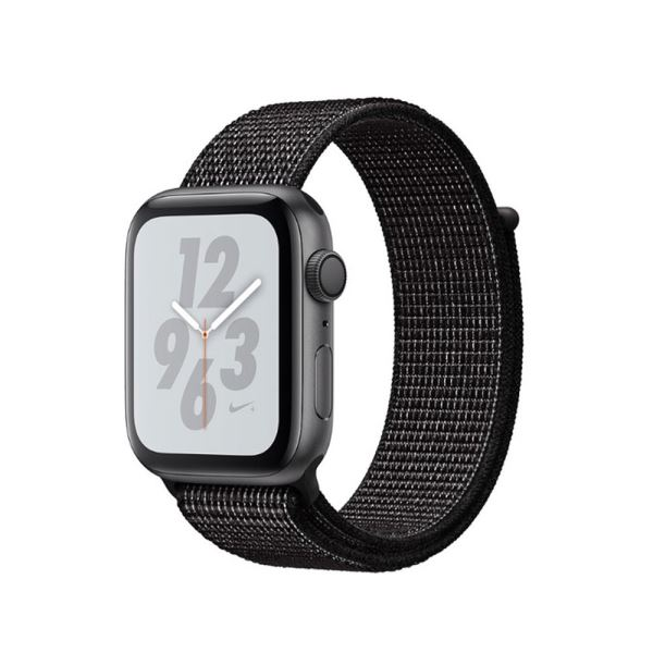 Apple Watch Nike+ Series 4 GPS, 44mm Space Grey Aluminium Case with Black