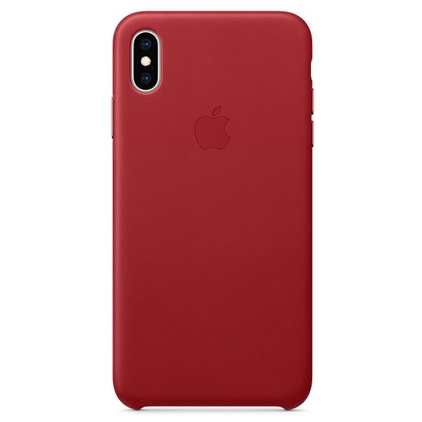APPLE MRWQ2ZM/A IPHONE XS MAX DERİ KILIF- KIRMIZI