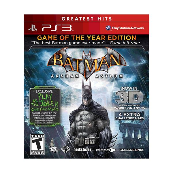 PS3 BATMAN ARKHAM ASYLUM GOTY ESSENTIALS