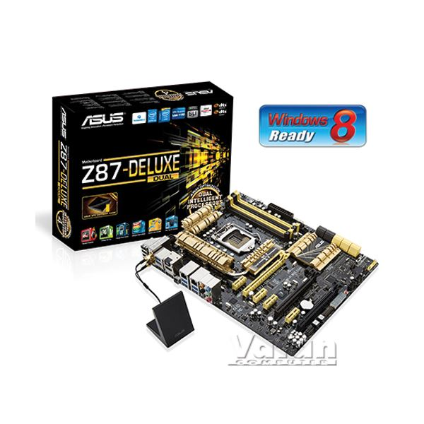 ASUS Z87-DELUXE/DUAL Intel Z87 Soket 1150 DDR3 3000MHz(O.C.) Anakart