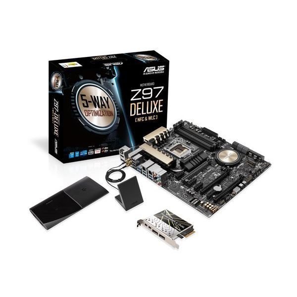 ASUS Z97-DELUXE(NFC&WLC )Intel Z97 Soket 1150 DDR3 3300MHz(O.C.) HDMI&DP Anakart