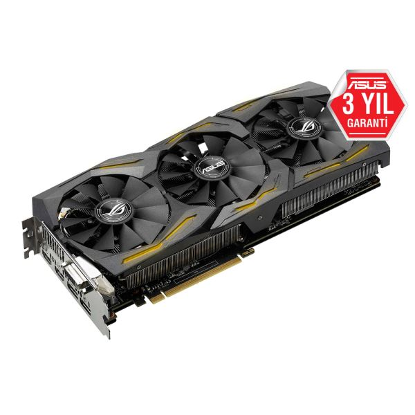 ASUS GeForce GTX1080 ROG STRIX GAMING 8GB GDDR5X 256Bit DX12 NVIDIA Ekran Kartı