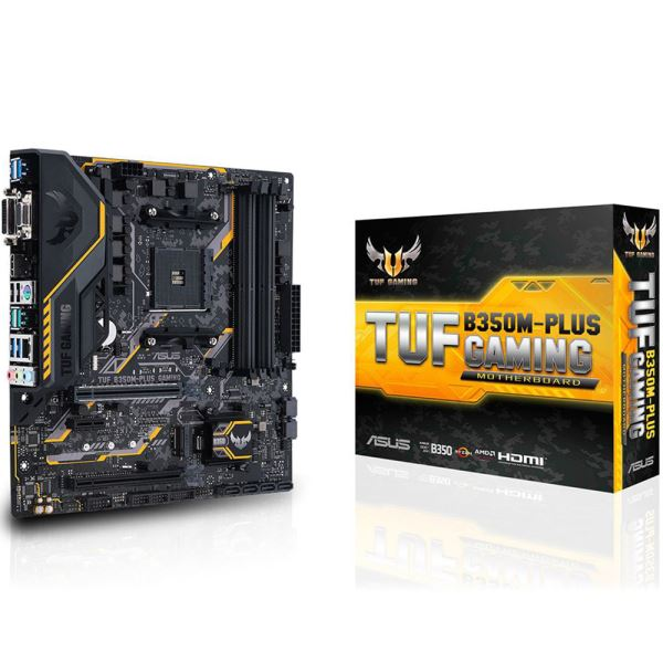 ASUS TUF B350M PLUS GAMING AM4 AMD Ryzen™ DDR4 3200 MHz (O.C.) USB 3.1 Anakart