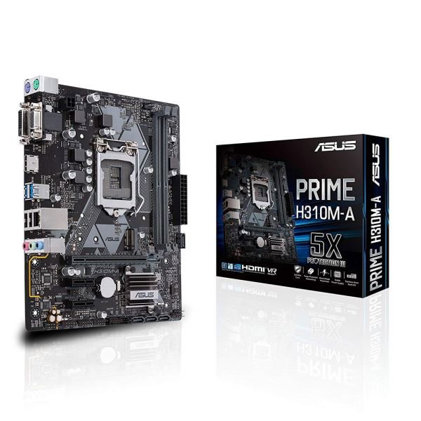 ASUS PRIME H310M-A Intel H310 Socket 8.-9.Nesil 1151 DDR4 2666MHz USB3.1 Anakart