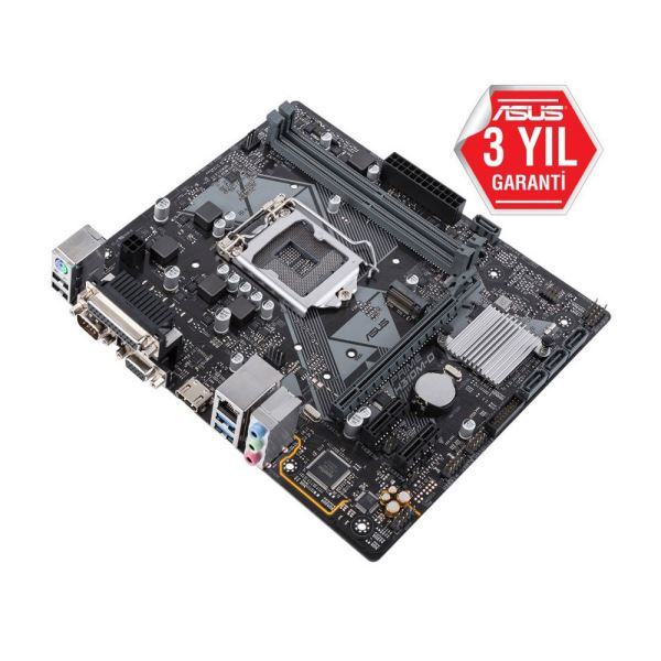 ASUS PRIME H310M-D Intel H310 Socket 8.Nesil 1151 DDR4 2666MHz USB3.1 Anakart