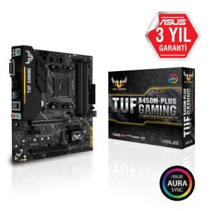 ASUS TUF B450M-PLUS GAMING AMD B450 Soket AM4 Ryzen™ DDR4 3200(O.C.) Anakart