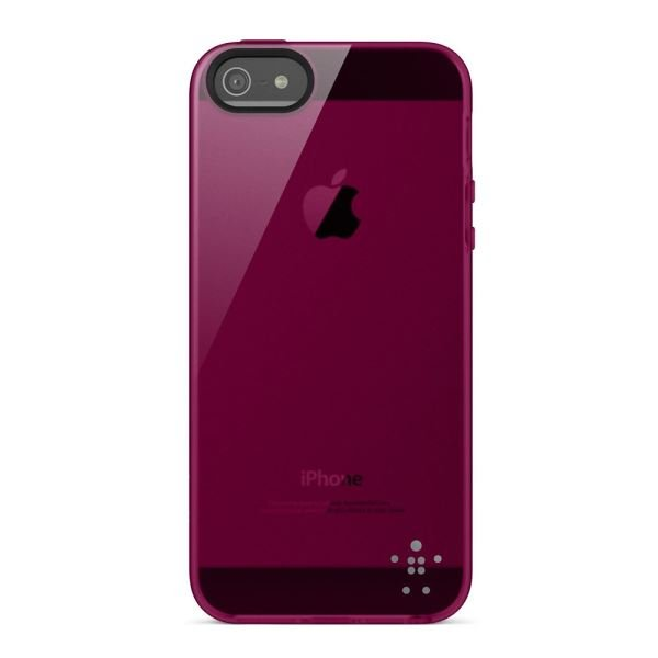 F8W093VFC03 IPHONE 5, GRIP SHEER SAYDAM PARLAK KILIF- (FUŞYA)