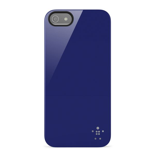 F8W159VFC03 SHİELD CASE COVER IPHONE 5/5S OPAK PARLAK KILIF- (LACİVERT)