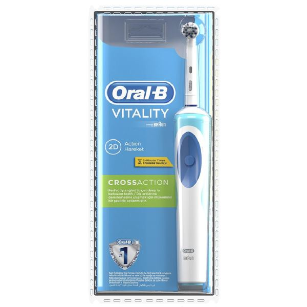BRAUN  D 12 CROSS ACTION ORAL B  ŞARJLI DİŞ FIRÇASI