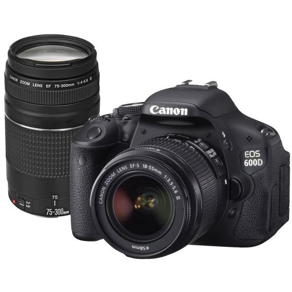 CANON EOS 600D 18-55/75-300 18 MP 3,0