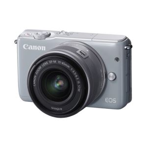 CANON EOS M100 15-45 IS STM LENS KIT 24.2 MP AYNASIZ SLR FOTOĞRAF MAKİNESİ (GRİ)
